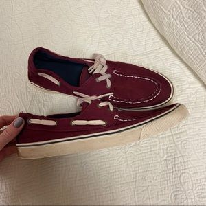 Maroon Top Sider Style Sperry's